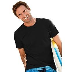 Hanes Men's ComfortBlend® EcoSmart® Crewneck T-Shirt, XXL-Black