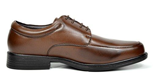 Bruno Marc Mens Läder Fodrade Fyrkantig Tå Klänning Oxfords Skor 1-mörkbrun