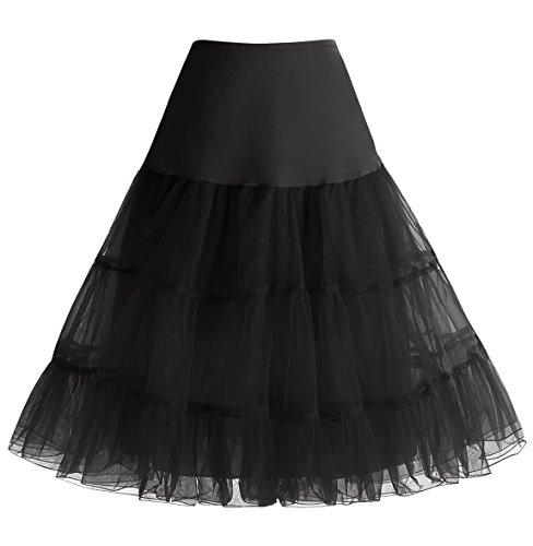 Lunghezza Crinoline Vintage 1950s Ginocchio Black Sottogonne Mini Donna Rockabilly Gonne Al Homrain Retro pTzwPRcqR