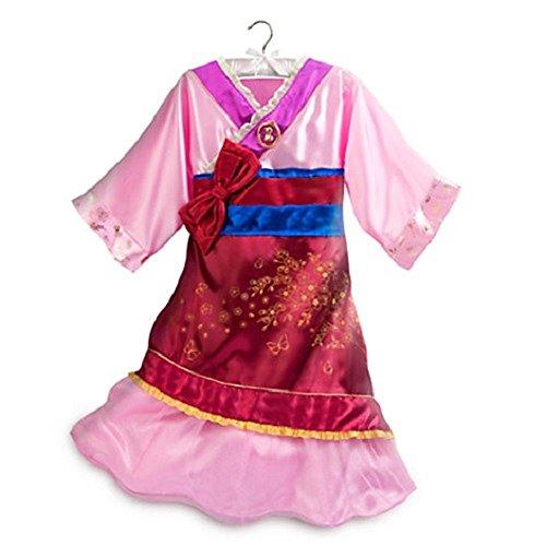 DISNEY STORE PRINCESS MULAN KIMONO COSTUME DRESS GIRLS PINK - 2015 (9/10) (Mulan Blue Dress)