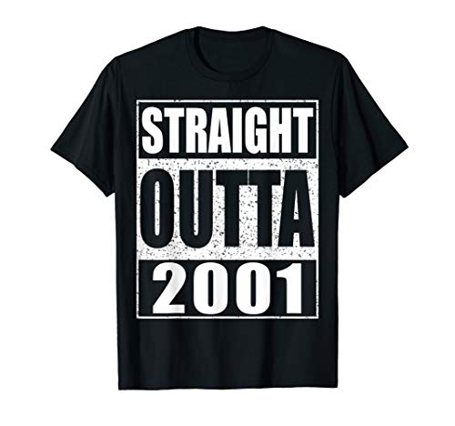 Straight Outta 2001 T-Shirt 18th Birthday Gift Shirt