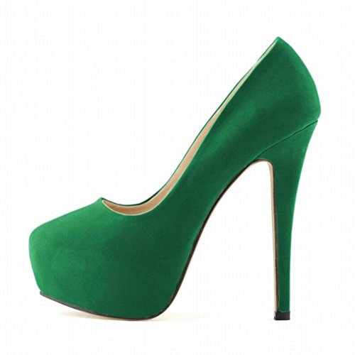 Platform Green Feet Heels Waterproof Nightclub YC Bride Shoes Super Women Thin High L Ultra Stylish wqOg68Ra