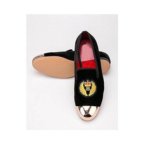 gli uomini di velluto appartamenti scarpe metal con un vestito fatto a mano le scarpe Size EU 38-44 Crown Comprar Barato Auténtica Venta Barata De Bajo Costo Compras Fresco Recomendar Descuento Colecciones De Salida v9GrNYsT