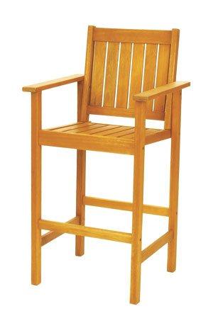 Eucalyptus Bar Chair - Achla Designs Eucalyptus Wood Indoor Outdoor Bar Set Chair