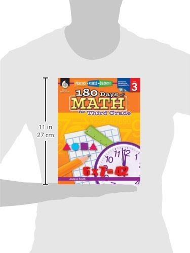 Amazon.com: 180 Days of Math for Third Grade (180 Days of Practice ...