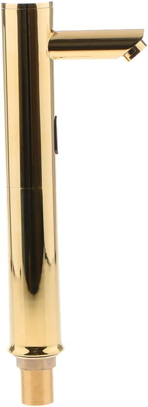 Oro A non-brand Sharplace Kit Rubinetto Lavandino Bagno Infrarossi con Sensore Acqua Automatico Accessori