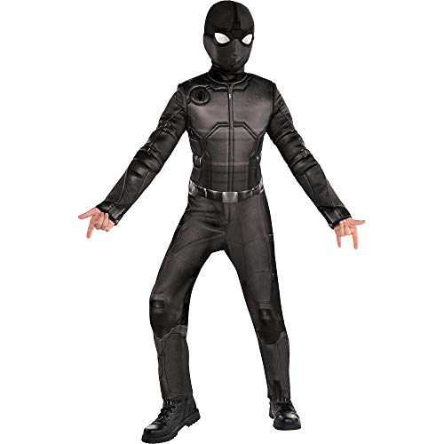 Party City Spider-Man: Far From Home Spider-Man Stealth Suit Costume for Children, Size Small, Includes Mask and Goggles -