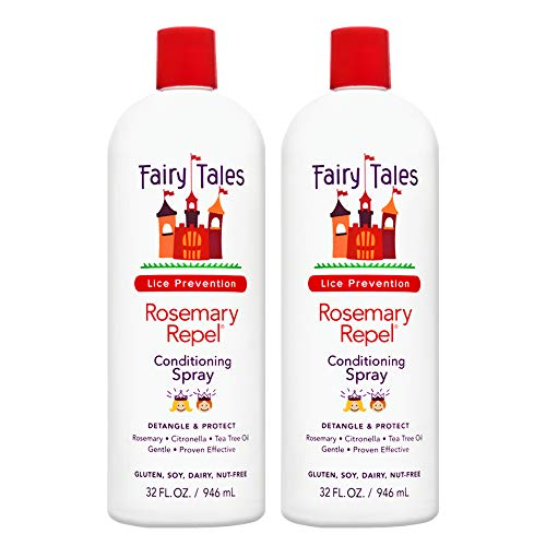 (Fairy Tales Rosemary Repel Daily Kid Conditioning Spray Refill for Lice Prevention - 32 oz - 2)