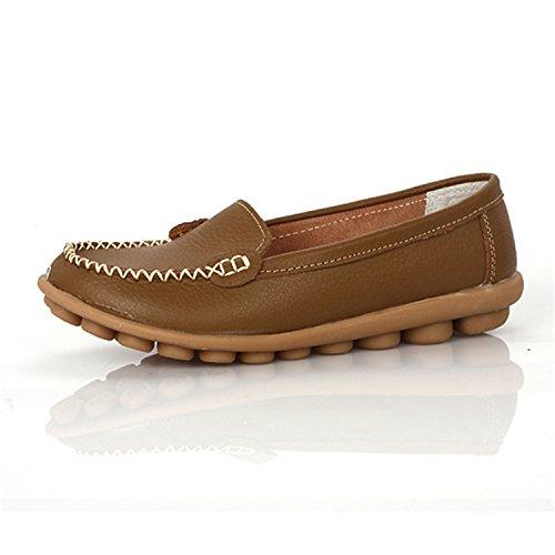 Slip Leather On Genuine Comfort Women Thytas Flats Women New 1189khaki Shoes Shoes nYq6xBXW