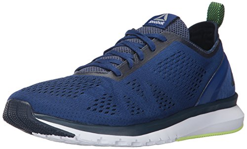 Reebok Men's Print Smooth Clip ULTK Running Shoe, deep Cobalt/coll. Navy/Electric Flash/White/Pewter, 10.5 M US