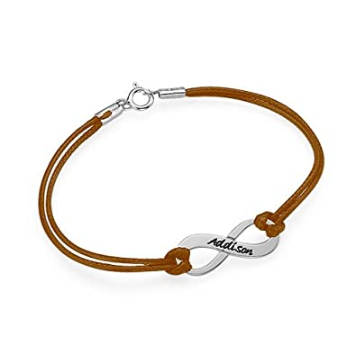Amazon Brown Infinity Symbol Bracelet Engraved With Name