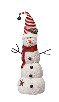 Your Hearts Delight Snowman with Stocking Cap Decor, 7-1/2 by 22-3/4-Inch