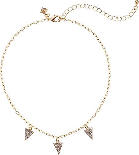 Rebecca Minkoff Pave Pyramid Gold Necklace