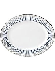Lenox 869062 Geodesia 13 Oval Platter Blue