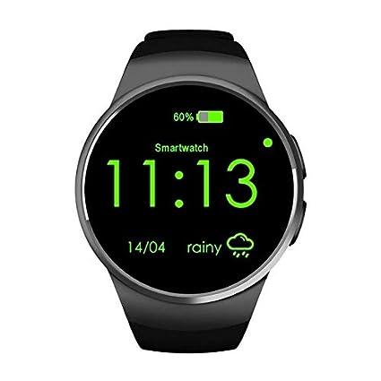 Amazon.com: XuBa Original KW18 Full Round IPS Heart Rate ...