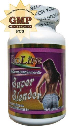 Ephedra Appetite Suppressant - Super Slender Cap 60 Cap Reduces Appetite, Constipation, Expelling Fat, Ephedra Free