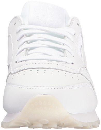 Reebok Womens Cl Lthr Face Fashion Sneaker Chiarezza / Meraviglia