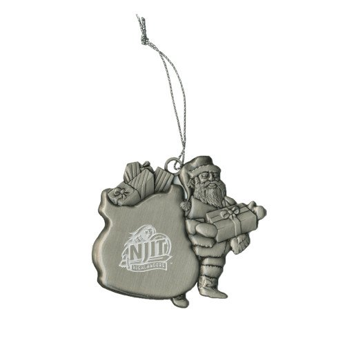 CollegeFanGear NJIT Pewter Santa Ornament 'Official Logo Engraved' by CollegeFanGear