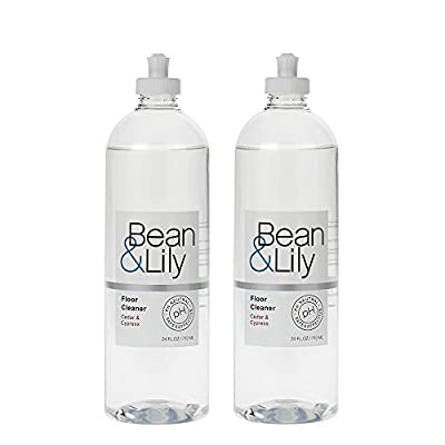 Bean & Lily Floor Cleaner - Cedar & Cypress - 24 oz - Natural Plant Based - pH Neutral - Gluten Free - Non Toxic - Sprays (pack of 2)