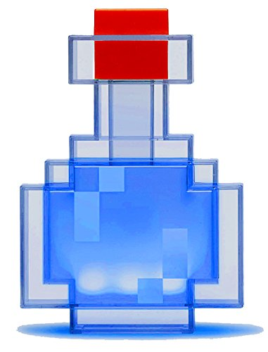 ThinkGeek Minecraft Color Changing Potion Bottle - Lights Up and Switches Between 8 Different Colors - Officially Licensed Minecraft Toys -