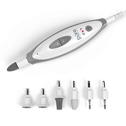 PureNails 7-piece Professional Manicure & Pedicure System - Powerful Electric Nail Drill for Salon-quality...