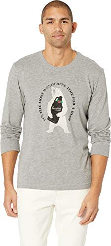 Life is Good Mens Winter and Holiday Graphic T-Shirts Long Sleeve Collection,Wonderful Time,Heather Gray,XX-Large