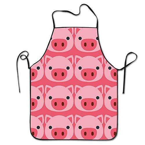 GOOESING Funny Design Apron Pig Face for Women Men Waitress Chef Home Barber Kitchen Gardening