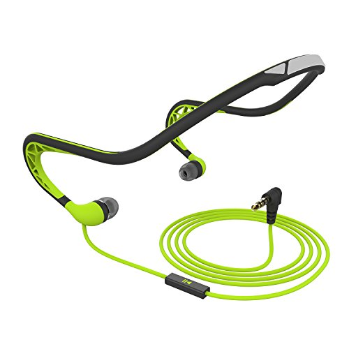 Price comparison product image Sports Headphones with Microphone,Running Neckband Earphones with 3.5mm Jack Earbuds,Sweatproof Noise Cancelling Headsets Lightweight Workout Headphones for Android iOS Computers laptops,green