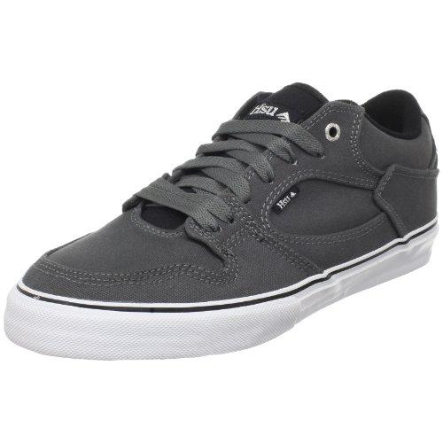 Emerica HSU LOW - Zapatillas de skateboarding de cuero para hombre Gris