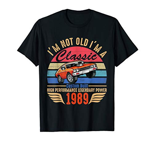 30th Birthday Gift Ideas Classic 1989 T-shirt for Men Women