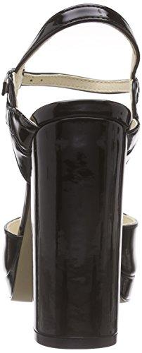 London con Donna 01 Platea Buffalo Pu Nero Nero Patent Black Sandali 315 4677 68nxxwYdUq