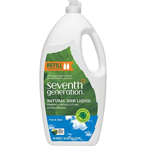 SEV22724 Natural Dishwashing Liquid, Neutral, 48oz, Bottle