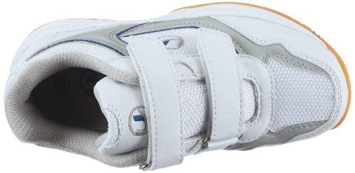 Ultrasport Sport Indoor Schuh 10069 - Zapatillas de deporte para niños Blanco (White/blue 100)