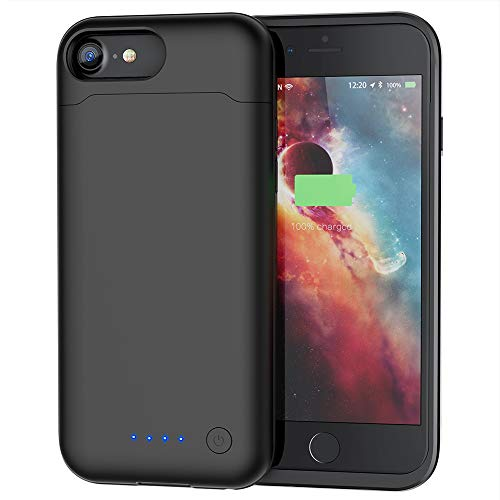 - Battery Case for iPhone 7/8, 6000mAh iPhone 7/8 Battery Case Upgraded Extended Portable Protective Charging Case for iPhone 7/8 (4.7 inch)-Black
