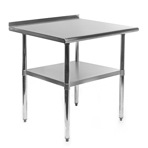 GRIDMANN NSF Stainless Steel Commercial Kitchen Prep & Work Table w/Backsplash - 30 in. x 24 in. (24 X 24 Stainless Steel Prep Table)