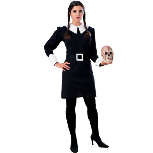 [Wednesday Addams Costume - Large - Dress Size] (Halloween Addams Family Costumes)