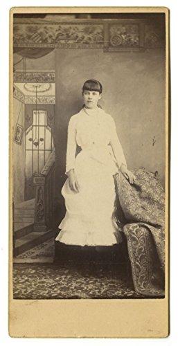 19th Century Fashion - Original 19th Century Oversized Cabinet Card -
