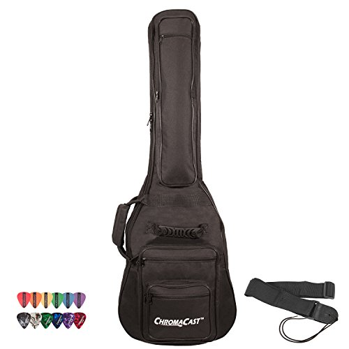 GO-DPS ChromaCast Electric Guitar 6-Pocket Padded Gig Bag with Guitar Strap and Pick Sampler