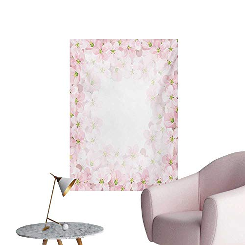 Anzhutwelve Floral Wallpaper Romantic Apple Flower Petals Blooms Nature Essence Beauty Bouquet ImageBaby Pink Lime Green W32 xL48 Funny Poster