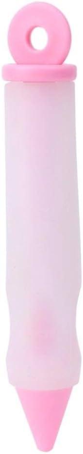 Guangcailun Silicona Alimentaci/ón Pluma de la Escritura Crema de Pasteles de Chocolate Plato decoraci/ón Jeringa Galleta de la Torta Pintura Pluma Color al Azar