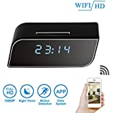 DareTang 1080p Hd Wifi Clock Hidden Camera with Night Vision,Wireless Motion Detection Activated Spy Home Security Nanny Cam with Free Ios Android APP