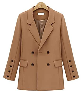 Suit jacket chic leisure medium length coat for women