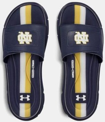 7272ea356161 UA Ignite V Collegiate Slide quot Notre Dame Fighting Irish quot  メンズ  Midnight Navy Midnight