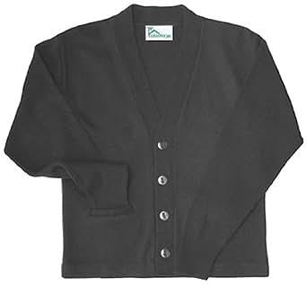 Classroom Men's Adult Unisex Cardigan Sweater, Black, Small