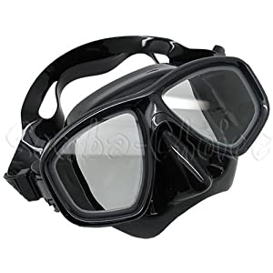 Black Dive Mask NEARSIGHTED Prescription RX Optical Lenses (Different each eye)
