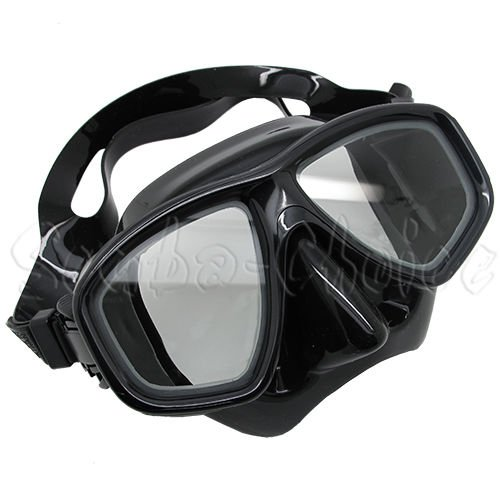 Scuba Black Dive Mask NEARSIGHTED Prescription RX Optical Lenses(-1.0)