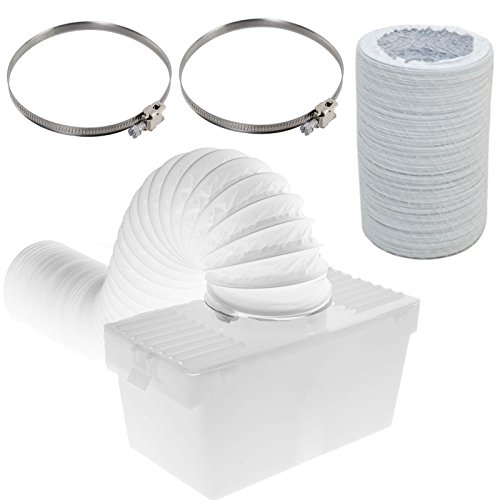 Spares2go Condenser Box & Extra Long Hose Kit With Jubilee Clips For Samsung Tumble Dryer (4