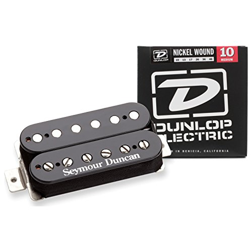 Seymour Duncan TB-11 Custom Trembucker Bridge Pickup Black w/ Strings