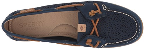 Shoe Ivy Women's 7 Navy Coil Top Geo Boat Sperry 5 Perf sider Us Medium 8UTqZff
