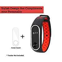 J TPU Premium Design Replacement Strap Accessories Bands Wrist Strap for Xiaomi MI Band 2 & Mi Band HRX Smart Activity Tracker (Free Screen Protector)…